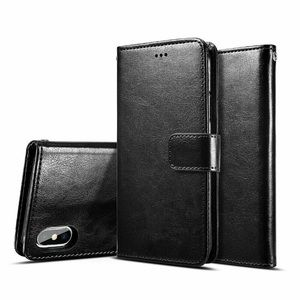Black iPhone PU Leather Wallet Case